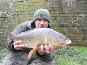 Canal carp caught on bread