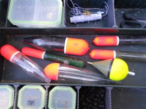 Pike floats in my tackle box