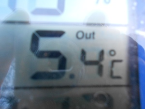 A falling temperature this week