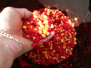 Groundbait and sweetcorn
