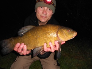 The 2.30am tench on the bank