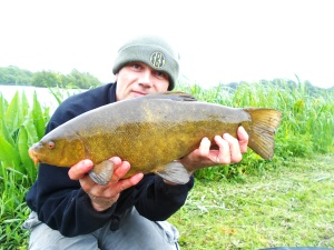 A nice tench on the bank