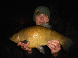 A tench in the early hours