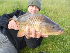 A small common, the first fish of the week