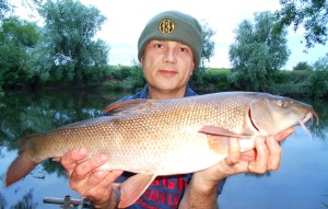 The first barbel on the bank