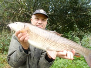 At last, a barbel on the bank