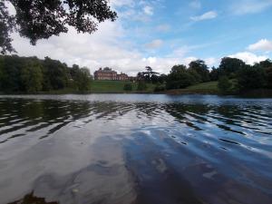A traditional English estate lake