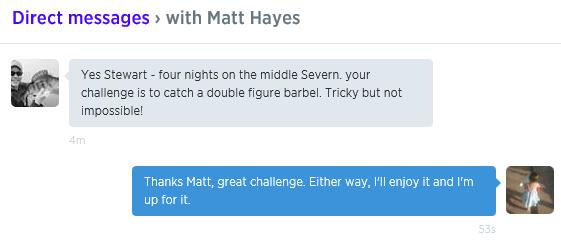 The Matt Hayes challenge