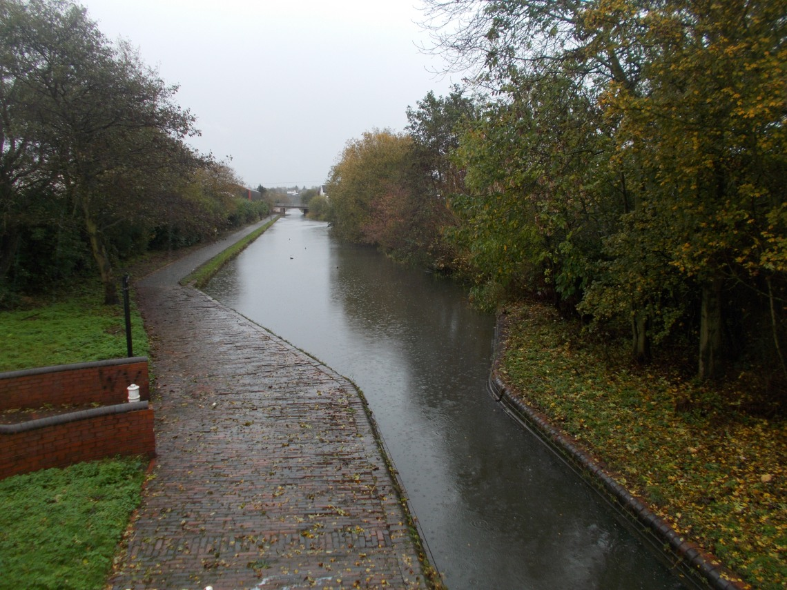 An urban canal in November