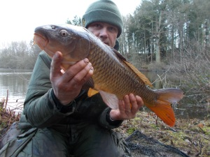 Not a big fish but an achievement in the conditions