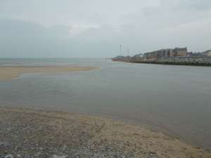 The River Clwyd where it meets the Irish Sea