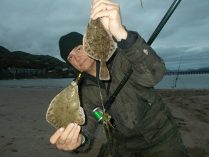 A double-header of low-water flounder