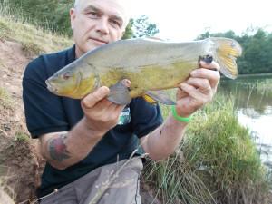 Not a catalogue pose, but a nice fish