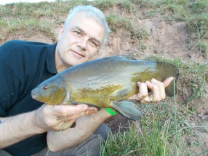 Not big but not small either, a nice tench