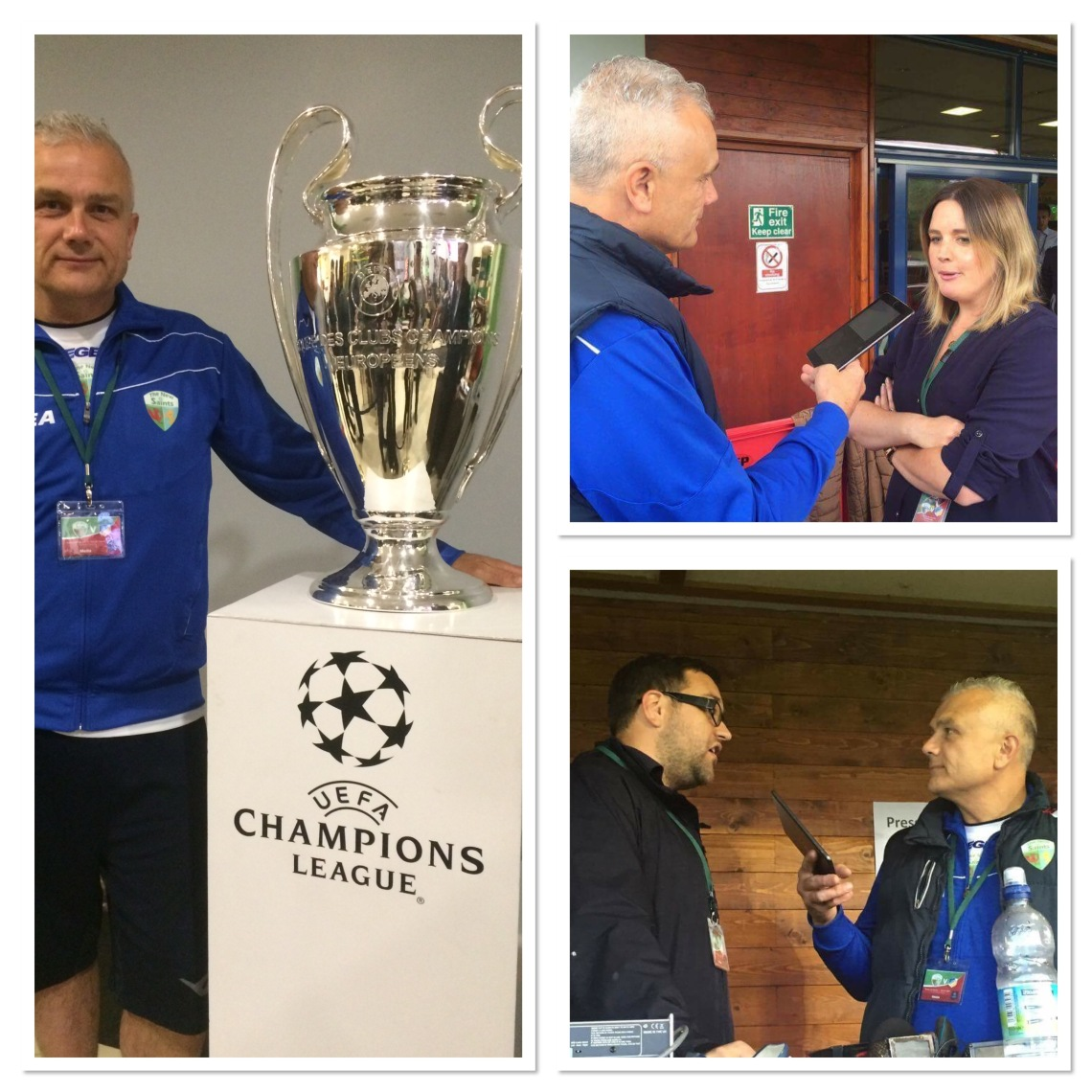 At Park Hall this week with the CL trophy and interviewing