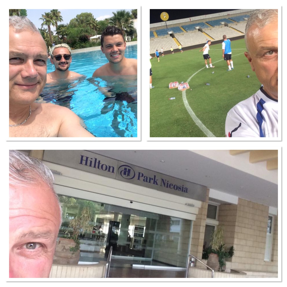 Living the life in Cyprus and on the pitch for a training session