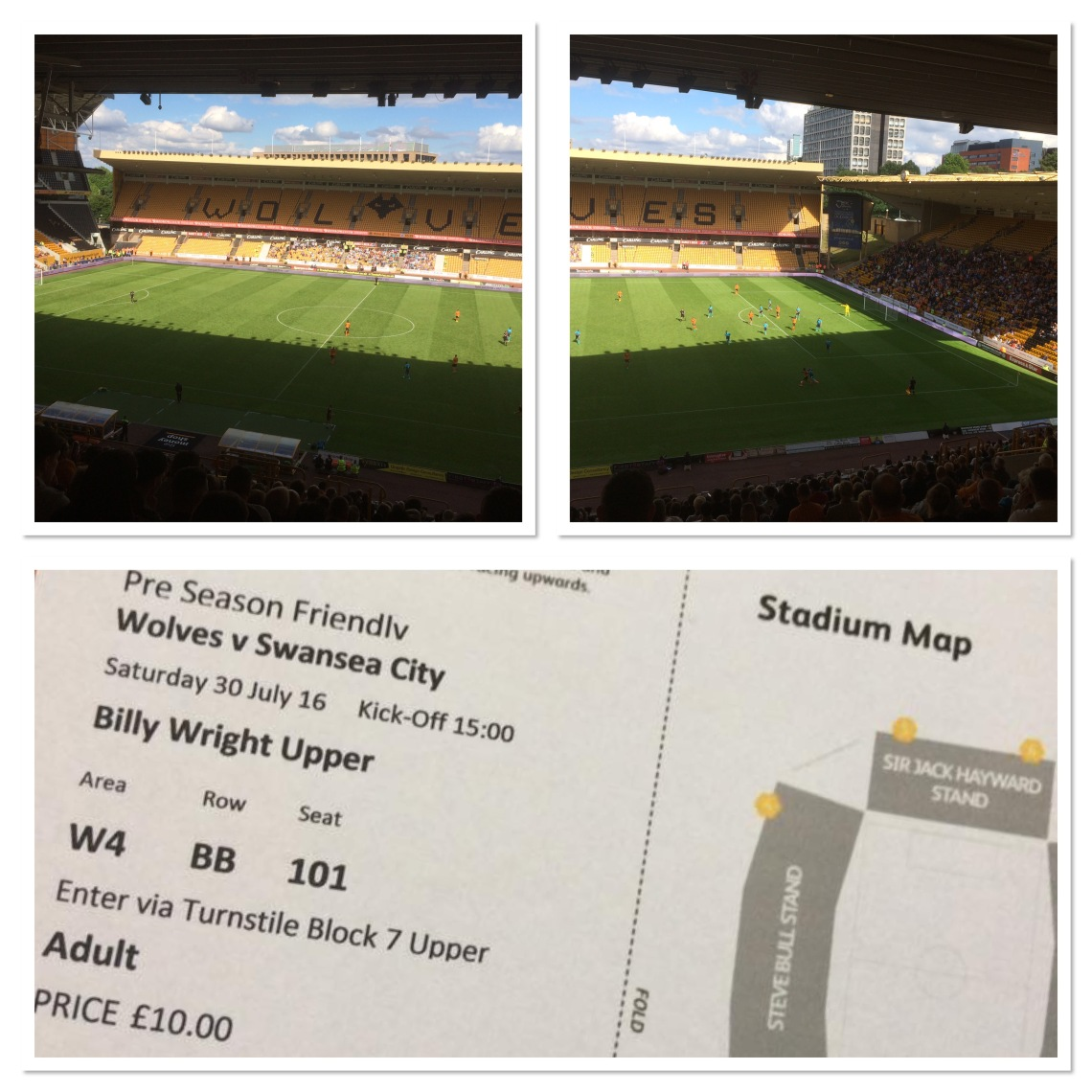 Hi Ho Wolverhampton, first Wolves game of the season