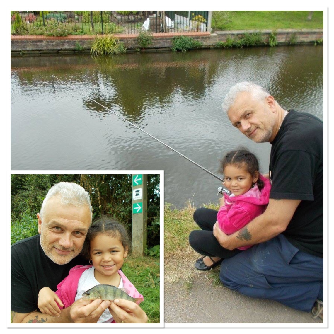 Nyah's first fish - a proud moment all round