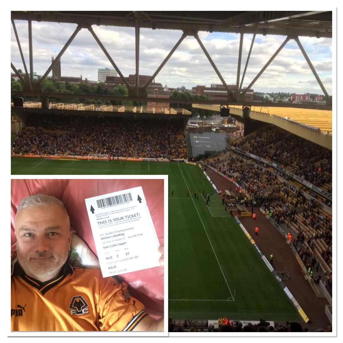 At Molineux for the start of the season