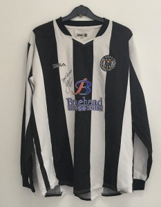 St. Mirren shirt signed by Jack Ross