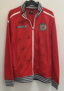 St. Mirren tracksuit signed by first team