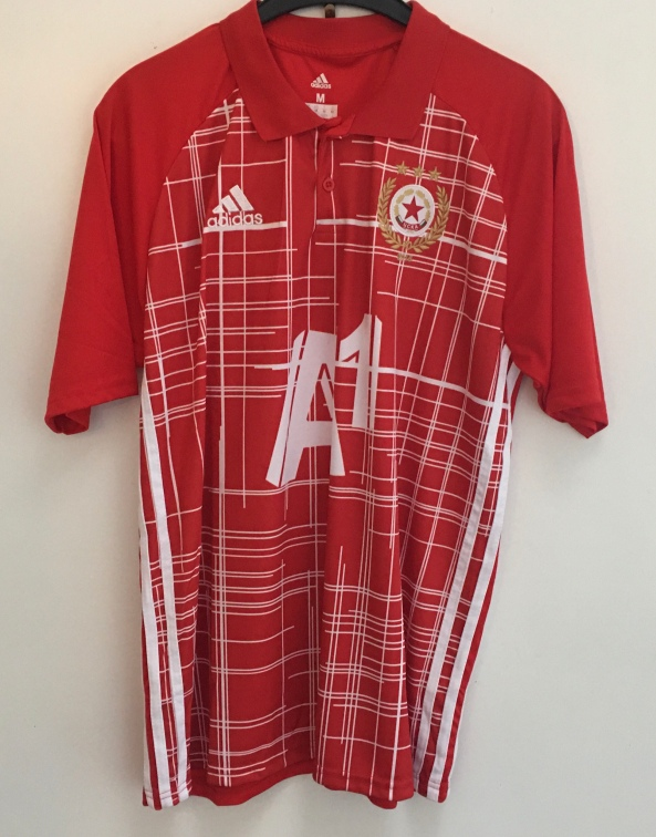CSKA Sofia shirt, worn by captain, Nikolay Bodurov