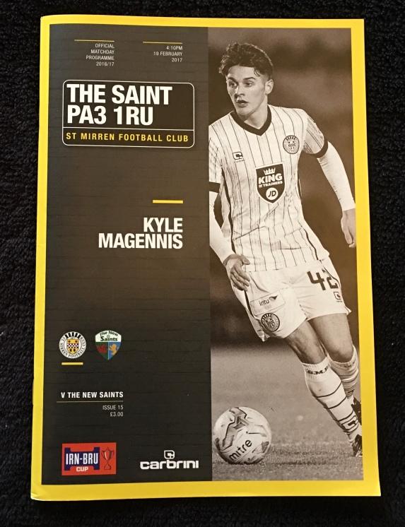 23. St Mirren v The New Saints FC