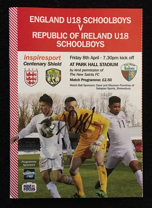 28. England Schoolboys U-18s v Republic of Ireland U-18s Schoolboys