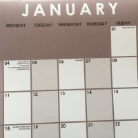 Thought For The Day - January 2 - It's Only A Date On A Calendar